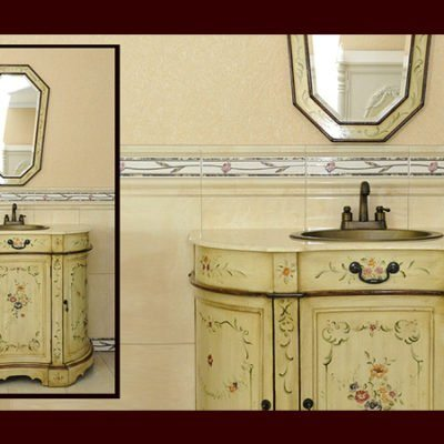 K86-SM – Komoda łazienkowa łącznie z umywalką, kranem oraz lustrem
