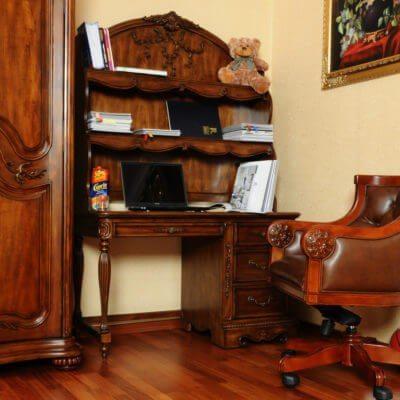 Biurko z regałem na biurko R50-BS+CB